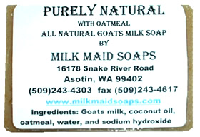 purley natural goat milk soap with oatmeal